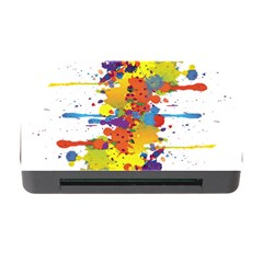 Crazy Multicolored Double Running Splashes Memory Card Reader With Cf by EDDArt