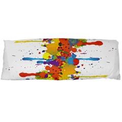 Crazy Multicolored Double Running Splashes Body Pillow Case (dakimakura) by EDDArt