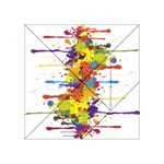 Crazy Multicolored Double Running Splashes Acrylic Tangram Puzzle (4  x 4 )