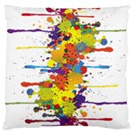 Crazy Multicolored Double Running Splashes Large Cushion Case (Two Sides)