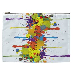 Crazy Multicolored Double Running Splashes Cosmetic Bag (xxl)  by EDDArt