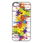 Crazy Multicolored Double Running Splashes Apple iPhone 5 Case (Silver)