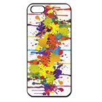 Crazy Multicolored Double Running Splashes Apple iPhone 5 Seamless Case (Black)