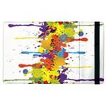 Crazy Multicolored Double Running Splashes Apple iPad 3/4 Flip Case