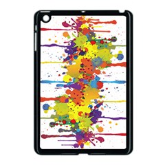 Crazy Multicolored Double Running Splashes Apple Ipad Mini Case (black) by EDDArt
