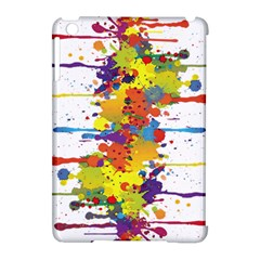 Crazy Multicolored Double Running Splashes Apple Ipad Mini Hardshell Case (compatible With Smart Cover) by EDDArt