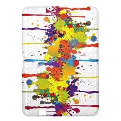 Crazy Multicolored Double Running Splashes Kindle Fire Hd 8 9  by EDDArt