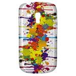 Crazy Multicolored Double Running Splashes Samsung Galaxy S3 MINI I8190 Hardshell Case