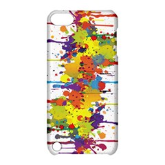 Crazy Multicolored Double Running Splashes Apple Ipod Touch 5 Hardshell Case With Stand by EDDArt