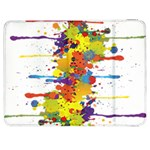 Crazy Multicolored Double Running Splashes Samsung Galaxy Tab 7  P1000 Flip Case