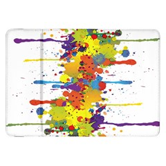 Crazy Multicolored Double Running Splashes Samsung Galaxy Tab 8 9  P7300 Flip Case by EDDArt