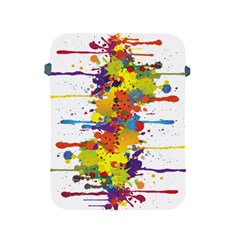 Crazy Multicolored Double Running Splashes Apple Ipad 2/3/4 Protective Soft Cases by EDDArt
