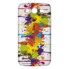 Crazy Multicolored Double Running Splashes Samsung Galaxy Mega 5 8 I9152 Hardshell Case  by EDDArt