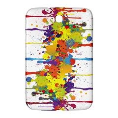Crazy Multicolored Double Running Splashes Samsung Galaxy Note 8 0 N5100 Hardshell Case  by EDDArt