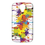 Crazy Multicolored Double Running Splashes Samsung Galaxy S4 Classic Hardshell Case (PC+Silicone)