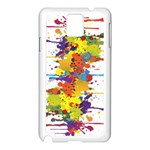 Crazy Multicolored Double Running Splashes Samsung Galaxy Note 3 N9005 Case (White)