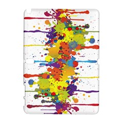 Crazy Multicolored Double Running Splashes Samsung Galaxy Note 10 1 (p600) Hardshell Case by EDDArt