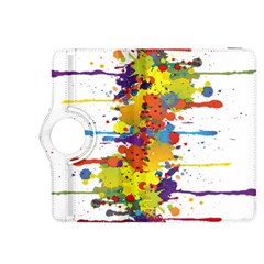 Crazy Multicolored Double Running Splashes Kindle Fire Hdx 8 9  Flip 360 Case by EDDArt