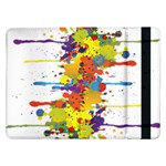Crazy Multicolored Double Running Splashes Samsung Galaxy Tab Pro 12.2  Flip Case