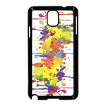 Crazy Multicolored Double Running Splashes Samsung Galaxy Note 3 Neo Hardshell Case (Black)
