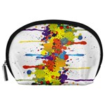 Crazy Multicolored Double Running Splashes Accessory Pouches (Large)