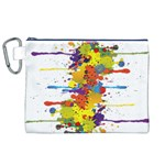 Crazy Multicolored Double Running Splashes Canvas Cosmetic Bag (XL)