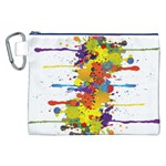 Crazy Multicolored Double Running Splashes Canvas Cosmetic Bag (XXL)