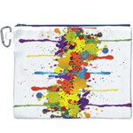 Crazy Multicolored Double Running Splashes Canvas Cosmetic Bag (XXXL)