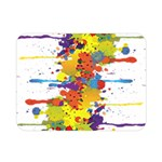 Crazy Multicolored Double Running Splashes Double Sided Flano Blanket (Mini)