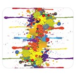 Crazy Multicolored Double Running Splashes Double Sided Flano Blanket (Small)