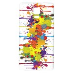 Crazy Multicolored Double Running Splashes Galaxy Note 4 Back Case