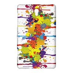 Crazy Multicolored Double Running Splashes Samsung Galaxy Tab S (8 4 ) Hardshell Case  by EDDArt