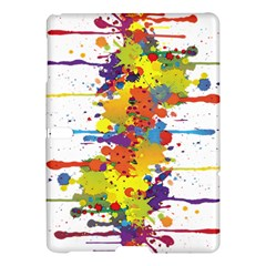 Crazy Multicolored Double Running Splashes Samsung Galaxy Tab S (10 5 ) Hardshell Case  by EDDArt