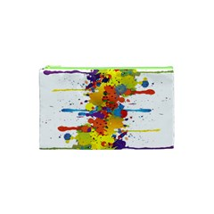 Crazy Multicolored Double Running Splashes Cosmetic Bag (xs) by EDDArt