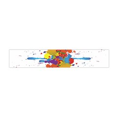 Crazy Multicolored Double Running Splashes Flano Scarf (mini) by EDDArt