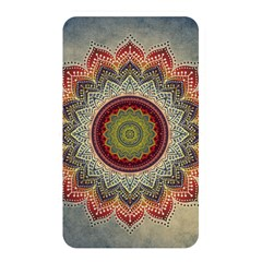 Folk Art Lotus Mandala Dirty Blue Red Memory Card Reader by EDDArt