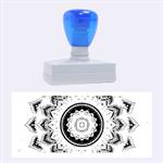 Folk Art Lotus Mandala Dirty Blue Red Rubber Stamps (Large)