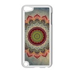 Folk Art Lotus Mandala Dirty Blue Red Apple iPod Touch 5 Case (White)