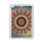 Folk Art Lotus Mandala Dirty Blue Red iPad Mini 2 Enamel Coated Cases