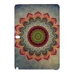 Folk Art Lotus Mandala Dirty Blue Red Samsung Galaxy Tab Pro 10 1 Hardshell Case by EDDArt
