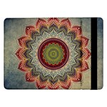 Folk Art Lotus Mandala Dirty Blue Red Samsung Galaxy Tab Pro 12.2  Flip Case