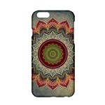Folk Art Lotus Mandala Dirty Blue Red Apple iPhone 6/6S Hardshell Case