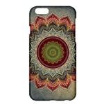 Folk Art Lotus Mandala Dirty Blue Red Apple iPhone 6 Plus/6S Plus Hardshell Case