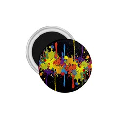Crazy Multicolored Double Running Splashes Horizon 1 75  Magnets by EDDArt
