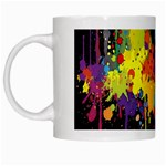 Crazy Multicolored Double Running Splashes Horizon White Mugs