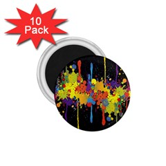 Crazy Multicolored Double Running Splashes Horizon 1 75  Magnets (10 Pack)  by EDDArt