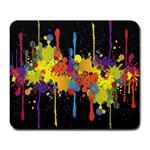 Crazy Multicolored Double Running Splashes Horizon Large Mousepads