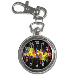 Crazy Multicolored Double Running Splashes Horizon Key Chain Watches by EDDArt