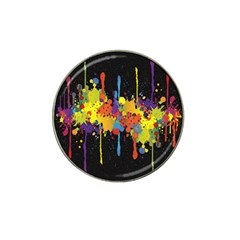 Crazy Multicolored Double Running Splashes Horizon Hat Clip Ball Marker (4 Pack) by EDDArt