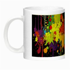 Crazy Multicolored Double Running Splashes Horizon Night Luminous Mugs by EDDArt